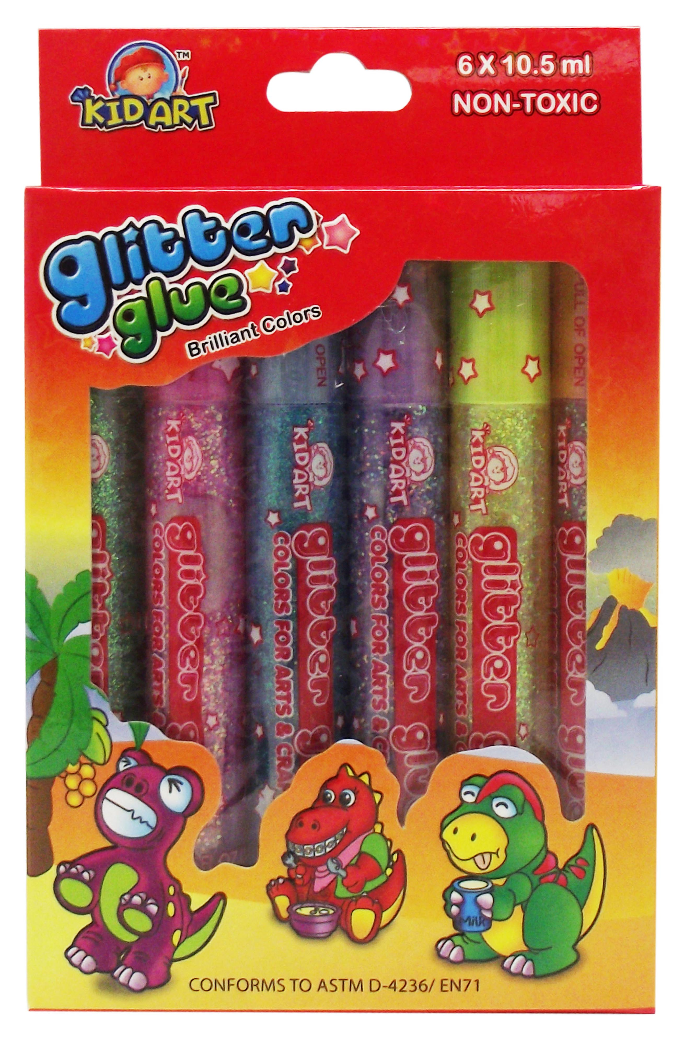 Glitter Glue Sparkle 10.5ml x 6 tubes
