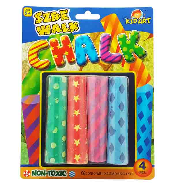 Jumbo Fancy Color Chalk 4pc
